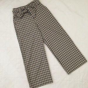H&M Plaid Wool Culottes
